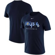 Wholesale Cheap Tampa Bay Rays Nike MLB Team Logo Practice T-Shirt Navy