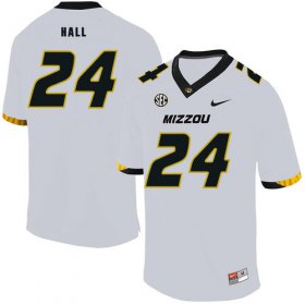 Wholesale Cheap Missouri Tigers 24 Terez Hall White Nike College Football Jersey