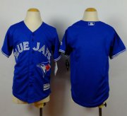 Wholesale Cheap Blue Jays Blank Blue Cool Base Stitched Youth MLB Jersey