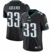 Wholesale Cheap Nike Eagles #33 Josh Adams Black Alternate Men's Stitched NFL Vapor Untouchable Limited Jersey