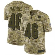 Wholesale Cheap Nike Bengals #46 Clark Harris Camo Men's Stitched NFL Limited 2018 Salute To Service Jersey
