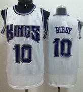Wholesale Cheap Sacramento Kings #10 Mike Bibby White Swingman Jersey