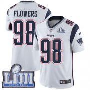 Wholesale Cheap Nike Patriots #98 Trey Flowers White Super Bowl LIII Bound Youth Stitched NFL Vapor Untouchable Limited Jersey