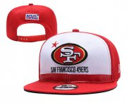 Wholesale Cheap 49ers Team Logo Red 2019 Draft Adjustable Hat YD