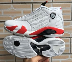 Wholesale Cheap Air Jordan 14 Retro Candy cane White/red-black