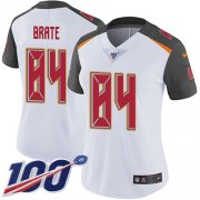 Wholesale Cheap Nike Buccaneers #84 Cameron Brate White Women's Stitched NFL 100th Season Vapor Untouchable Limited Jersey