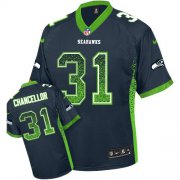 Wholesale Cheap Nike Seahawks #31 Kam Chancellor Steel Blue Team Color Men's Stitched NFL Elite Drift Fashion Jersey