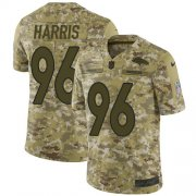 Wholesale Cheap Nike Broncos #96 Shelby Harris Camo Youth Stitched NFL Limited 2018 Salute To Service Jersey