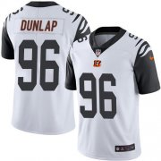 Wholesale Cheap Nike Bengals #96 Carlos Dunlap White Men's Stitched NFL Limited Rush Jersey