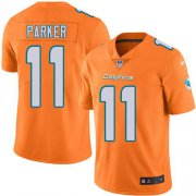 Wholesale Cheap Nike Dolphins #11 DeVante Parker Orange Men's Stitched NFL Limited Rush Jersey