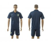 Wholesale Cheap Malaga Blank Blue Training Soccer Club Jersey