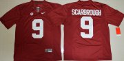Wholesale Cheap Men's Alabama Crimson Tide #9 Bo Scarbrough Red Limited Stitched College Football Nike NCAA Jersey