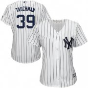 Wholesale Cheap Yankees #39 Mike Tauchman White Strip Home Women's Stitched MLB Jersey