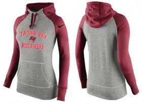 Wholesale Cheap Women\'s Nike Tampa Bay Buccaneers Performance Hoodie Grey & Red_2