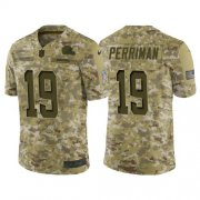 Wholesale Cheap Nike Browns #19 Breshad Perriman Camo Men's Stitched NFL Limited 2018 Salute To Service Jersey