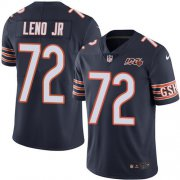 Wholesale Cheap Nike Bears #72 Charles Leno Jr Navy Blue Team Color Men's 100th Season Stitched NFL Vapor Untouchable Limited Jersey