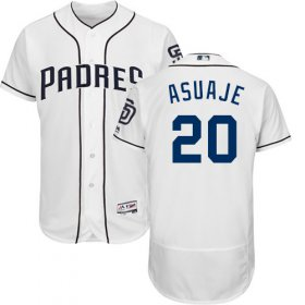 Wholesale Cheap Padres #20 Carlos Asuaje White Flexbase Authentic Collection Stitched MLB Jersey