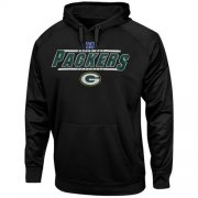 Wholesale Cheap Green Bay Packers Majestic Synthetic Hoodie Sweatshirt Black