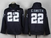 Wholesale Dallas Cowboys #22 Emmitt Smith Navy Blue Pullover NFL Hoodie