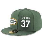 Wholesale Cheap Green Bay Packers #37 Sam Shields Snapback Cap NFL Player Green with White Number Stitched Hat