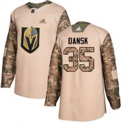 Wholesale Cheap Adidas Golden Knights #35 Oscar Dansk Camo Authentic 2017 Veterans Day Stitched NHL Jersey