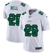Wholesale Cheap New York Jets #26 Le'Veon Bell White Men's Nike Team Logo Dual Overlap Limited NFL Jersey