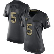 Wholesale Cheap Nike Browns #5 Case Keenum Black Women's Stitched NFL Limited 2016 Salute to Service Jersey
