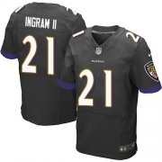 Wholesale Cheap Nike Ravens #21 Mark Ingram II Black Alternate Men's Stitched NFL New Elite Jersey