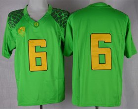 Wholesale Cheap Oregon Ducks #6 Charles Nelson 2013 Light Green Limited Jersey