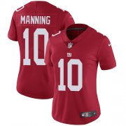 Wholesale Cheap Nike Giants #10 Eli Manning Red Alternate Women's Stitched NFL Vapor Untouchable Limited Jersey