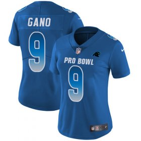 Wholesale Cheap Nike Panthers #9 Graham Gano Royal Women\'s Stitched NFL Limited NFC 2018 Pro Bowl Jersey