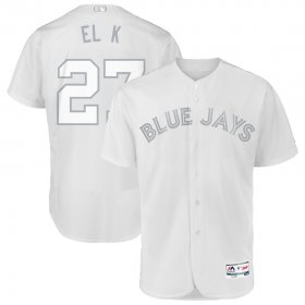 Wholesale Cheap Toronto Blue Jays #27 Vladimir Guerrero Jr. El K Majestic 2019 Players\' Weekend Flex Base Authentic Player Jersey White