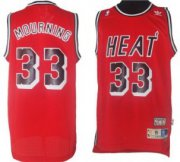 Wholesale Cheap Miami Heat #33 Alonzo Mourning Red Swingman Throwback Jersey