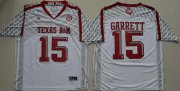 Wholesale Cheap Men's Texas A&M Aggies #15 Myles Garrett White Stitched College Football 2016 adidas NCAA Jersey