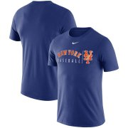 Wholesale Cheap New York Mets Nike MLB Team Logo Practice T-Shirt Royal
