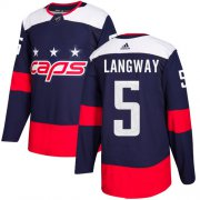 Wholesale Cheap Adidas Capitals #5 Rod Langway Navy Authentic 2018 Stadium Series Stitched NHL Jersey