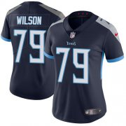Wholesale Cheap Nike Titans #79 Isaiah Wilson Navy Blue Team Color Women's Stitched NFL Vapor Untouchable Limited Jersey