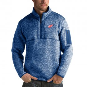 Wholesale Cheap Detroit Red Wings Antigua Fortune Quarter-Zip Pullover Jacket Blue