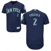 Wholesale Cheap Mariners #2 Jean Segura Navy Blue Flexbase Authentic Collection Stitched MLB Jersey