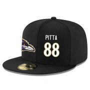 Wholesale Cheap Baltimore Ravens #88 Dennis Pitta Snapback Cap NFL Player Black with White Number Stitched Hat