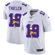 Wholesale Cheap Minnesota Vikings #19 Adam Thielen White Men's Nike Team Logo Dual Overlap Limited NFL Jersey