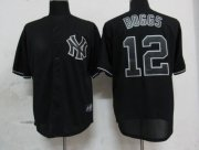 Wholesale Yankees #12 Wade Boggs Black Fashion Stitched Baseball Jersey