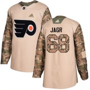 Wholesale Cheap Adidas Flyers #68 Jaromir Jagr Camo Authentic 2017 Veterans Day Stitched NHL Jersey