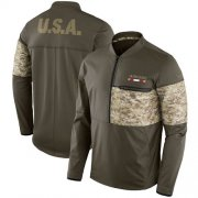 Wholesale Cheap Men's San Francisco 49ers Nike Olive Salute to Service Sideline Hybrid Half-Zip Pullover Jacket