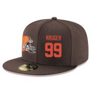 Wholesale Cheap Cleveland Browns #99 Stephen Paea Snapback Cap NFL Player Brown with Orange Number Stitched Hat