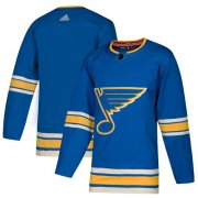 Wholesale Cheap Adidas Blues Blank Blue Alternate Authentic Stitched NHL Jersey