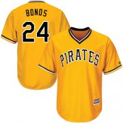 Wholesale Cheap Pirates #24 Barry Bonds Gold Cool Base Stitched Youth MLB Jersey