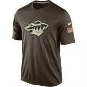 Wholesale Cheap Men's Minnesota Wild Salute To Service Nike Dri-FIT T-Shirt