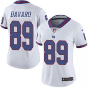 Wholesale Cheap Nike Giants #89 Mark Bavaro White Women's Stitched NFL Limited Rush Jersey