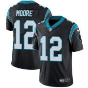 Wholesale Cheap Nike Panthers #12 DJ Moore Black Team Color Youth Stitched NFL Vapor Untouchable Limited Jersey